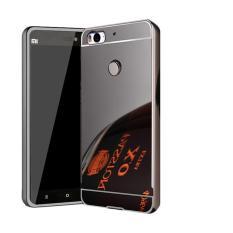 Case Xiaomi Mi 4s / Xiaomi Mi4s Alumunium Bumper With Sliding Mirror / Bumper Mirror Xiaomi Mi 4s / HardCase Xiaomi Mi4s / Hard Cover / Back Cover / Casing HP - Hitam
