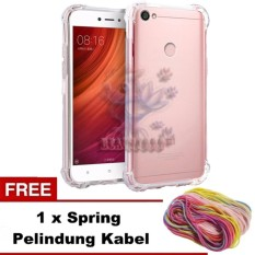 Case Xiaomi Redmi Note 5A Prime Ultrathin Anti Crack Luxury Softcase Anti Jamur Air Case 0.3mm / Silicone Xiaomi Redmi Note 5A Prime / Soft Case / Silikon Anti Crack / Case Jelly Xiaomi Note 5A Prime + FREE Spring Pelindung Cable - Transparant