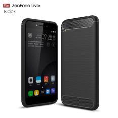 Caselova Premium Quality Carbon Shockproof Hybrid Case for Asus Zenfone Live ZB501KL - Black