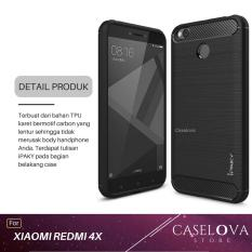 Caselova Premium Quality Carbon Shockproof Hybrid Case for Xiaomi Redmi 4X / 4X Prime 5 inch - Black