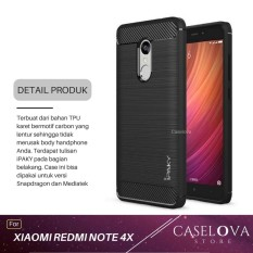 Caselova Premium Quality Carbon Shockproof Hybrid Case for Xiaomi Redmi Note 4X / Note 4 Versi Snapdragon 5.5 inch - Black
