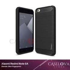 Caselova Premium Quality Carbon Shockproof Hybrid Case for Xiaomi Redmi Note 5A Standar (Non Fingerprint) - Black
