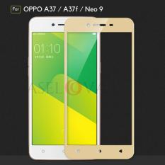 Caselova Premium Tempered Glass Warna Full Cover For Oppo A37 / A37f / Neo 9 - Gold