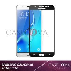 Caselova Premium Tempered Glass Warna Full Cover For Samsung Galaxy J5 2016 / J510 - Black