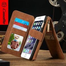 Case Saya Flip Kulit Case Zipper Mini Man Dompet Dompet Slot Kartu Holder Bag untuk Iphone 6 Plus 6 Splus- INTL