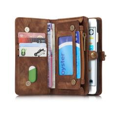 Caseme Retro Split Leather Multi-slot Wallet Case for iPhone 6s 6  (Coffee)