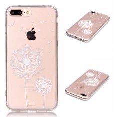 Kasus untuk Apple IPhone 7 Plus 5.5 Inch Smartphone Smartphone-Putih Dandelion Percetakan Pola Transparan TPU Mobile Phone Soft Cover Case-Intl
