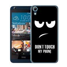 Cases for HTC Desire 626 (5 inch) Smartphone - Don't Touch My Phone Printing Pattern Transparent TPU Soft Cover Case - intl