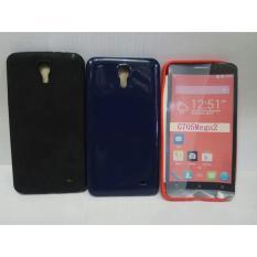 Casing Case Cover Sarung Silikon Softshell Glossy Samsung Mega 2 Foto Asli.