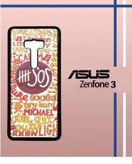 Casing Custom Hardcase Polycarbonate Hp Asus Zenfone 3 (Ze552kl) Case Cover Second Of Summer 5sos Quote Design