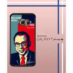 Casing Custom Hardcase Polycarbonate Hp Samsung Galaxy S6 Edge Plus Case Cover Mohammad Hatta W3865