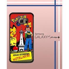 Casing Custom Hardcase Polycarbonate Hp Samsung Galaxy S6 Edge Plus Case Cover POKEMON JOGJA W3970