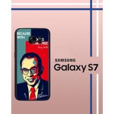 Casing Custom Hardcase Polycarbonate Hp Samsung Galaxy S7 Case Cover Mohammad Hatta W3865