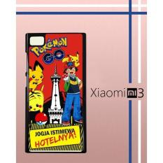 Casing Custom Hardcase Polycarbonate Hp Xiaomi Mi 3 Case Cover POKEMON JOGJA W3970