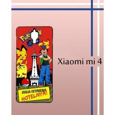 Casing Custom Hardcase Polycarbonate Hp Xiaomi Mi 4 Case Cover POKEMON JOGJA W3970