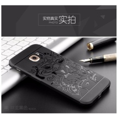 Casing Dragon Shockproof Hybrid Case for Samsung Galaxy S6 EDGE - Hitam + Gratis iRing
