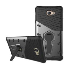 Casing for Samsung Galaxy J7 Prime / On7 2016 Case [360 Kickstand Holder] PC+TPU Aplit Joint Hybrid Back Armor Cover With Built in Stand Cell Phone Case - HITAM