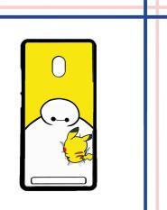 Casing gambar motif HARDCASE untuk hp Asus ZenFone 6 Baymax X Pikachu E0587