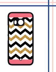 Casing gambar motif HARDCASE untuk hp HTC One U11 chevron pink gold T0070