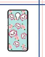 Casing gambar motif HARDCASE untuk hp Meizu M3 Note Cute Cat Flower Background