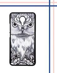 Casing gambar motif HARDCASE untuk hp Meizu M3 Note owl focus black and white L0840