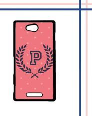 Casing gambar motif HARDCASE untuk hp Sony Xperia C pink polkadot T0200
