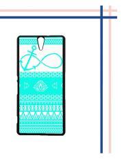 Harga Casing Gambar Motif Hardcase Untuk Hp Sony Xperia C5 Ultra C5 Mint Aztec Pattern Infinity Anchor Fullset Murah