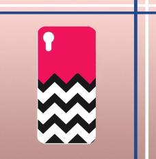 Casing gambar motif HARDCASE untuk hp Sony Xperia XA Ultra C6 Ultra chevron black pinkT0056
