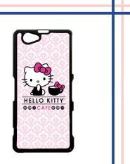 Casing gambar motif HARDCASE untuk hp Sony Xperia Z1 Compact hello kitty cafe L0765