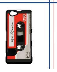 Casing gambar motif HARDCASE untuk hp Sony Xperia Z1 Compact Retro Mix Tape