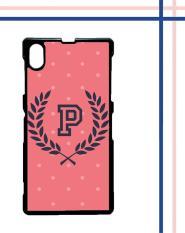 Casing gambar motif HARDCASE untuk hp Sony Xperia Z1 pink polkadot T0200
