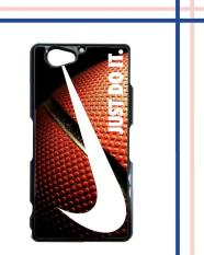 Casing gambar motif HARDCASE untuk hp Sony Xperia Z2 Compact NIke Just Do it Glitter Basket Ball
