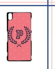 Casing gambar motif HARDCASE untuk hp Sony Xperia Z3 pink polkadot T0200