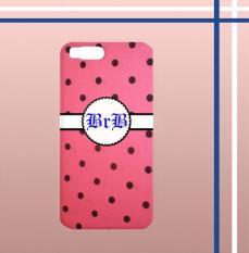 Casing gambar motif HARDCASE untuk hp Xiaomi Mi 6 polkadot pinky nama inisial sendiri T0132