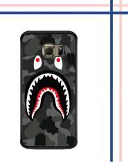 Harga Casing Gambar Motif Hardcase Untuk Samsung Galaxy S6 Edge Plus Bape Shark Hoodie Camo W5258 Case