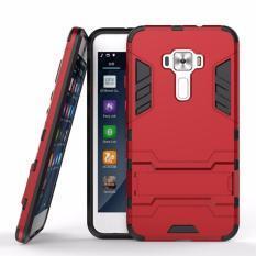 Casing Handphone Asus Zenfone 3 / ZE520KL Seri Ironman Kickstand