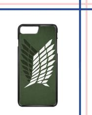 Casing HARDCASE Bergambar Motif Untuk Handphone iPhone 7 Plus Attack on Titan Survey Logo Case Cover