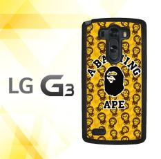Casing HARDCASE Bergambar Motif Untuk LG G3 Non Stylus a Bathing Ape Logo J0030 Case