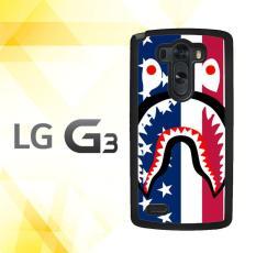 Casing HARDCASE Bergambar Motif Untuk LG G3 Non Stylus BAPE AMERICAN FLAG J0058 Case