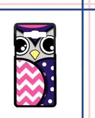 Casing HARDCASE Bergambar Motif Untuk Samsung Galaxy A5 2015 SM-A500 Owl Chevron Polkadot E1755 Case
