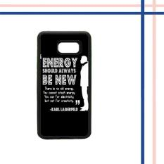 Casing HARDCASE Bergambar Motif Untuk Samsung Galaxy A7 2017 SM-A720 Karl Lagerfeld quote