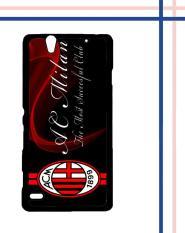 Casing HARDCASE Bergambar Motif Untuk Sony Xperia C4 Ac Milan logo Q12MN Case
