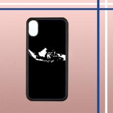 Casing Hardcase Gambar Motif Peta Indonesia Jokowi Selfie Untuk Hp Iphone X Case Cover