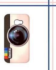 Casing HARDCASE untuk hp Samsung Galaxy A3 2017 Instagram