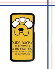 Casing HARDCASE untuk hp Samsung Galaxy Grand 2 Tv Show Adventure Time Jake The Dog M0051