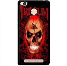 Casing Hardcase Xiaomi Redmi 3 Pro 3S 3X Motif Trivium Red Skull Devil Black Metal Band Logo Z0765