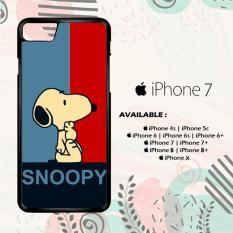 Casing iPhone 7 Custom Hardcase HP Snoopy Blue Red L0434