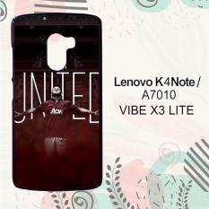 Casing Lenovo K4 Note   A7010   Vibe X3 Lite Custom Hardcase HP I am United Manchester United L0162