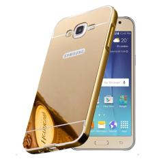 Casing Metal Bumper Mirror for Samsung Galaxy J3 - Gold