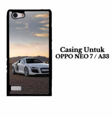Casing OPPO A33 NEO 7 White Audi r8 Custom Hard Case Cover